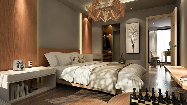 chytře řešená ložnice