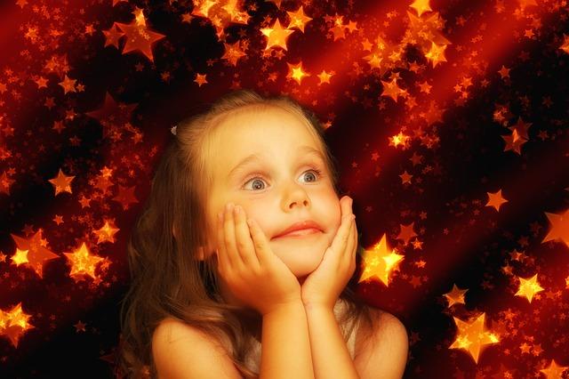 dívka mezi hvězdami