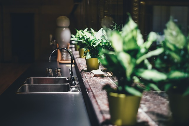 květiny v kuchyni