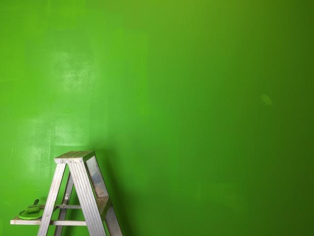 malování na zeleno