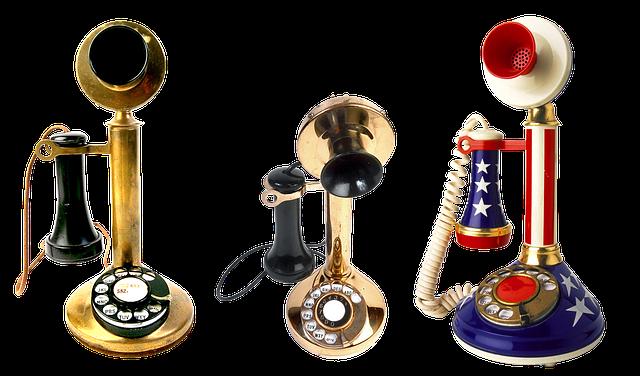 historické telefony