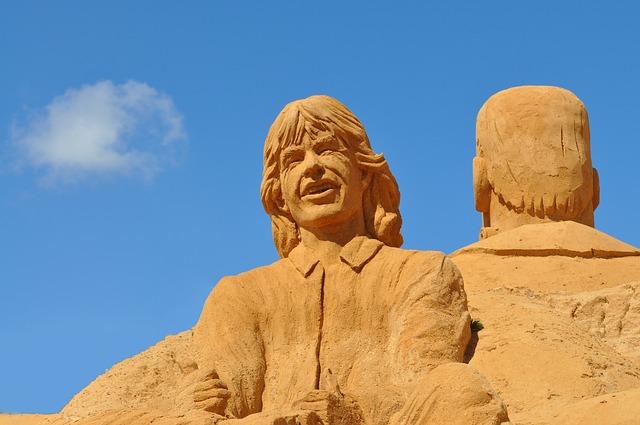 osoba z písku