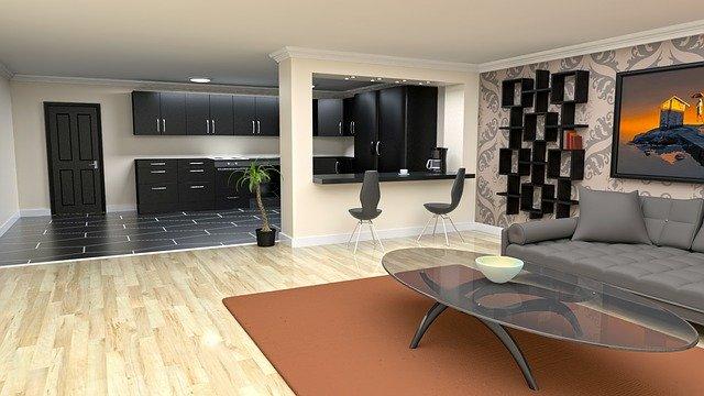 Interiér designového obývacího pokoje